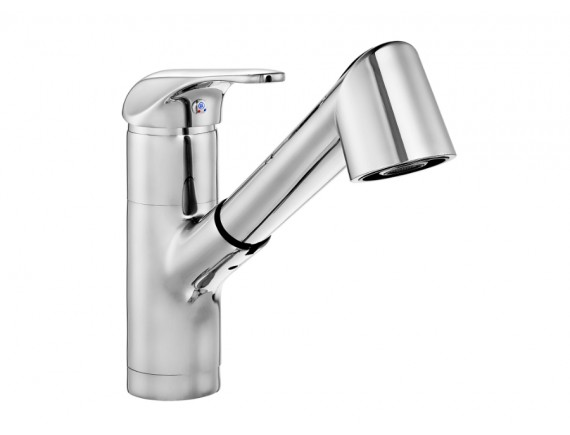 DORE SINGLE HOLE PULLOUT SINK MIXER