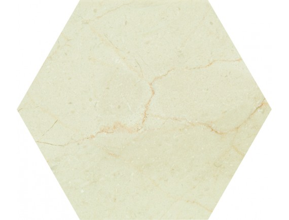 HEXAGON TILE 001 CREMA MARFIL